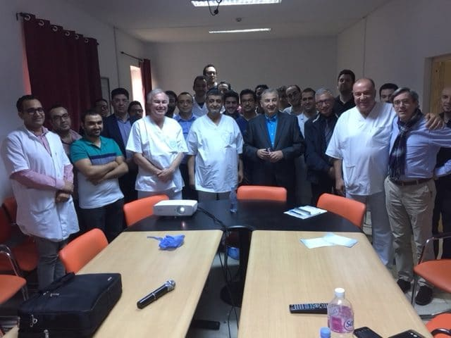 Knee surgeries and conferences in Tunis with Pr. Monder (University Hospital Ben Arous) and Pr. Paul from Romania