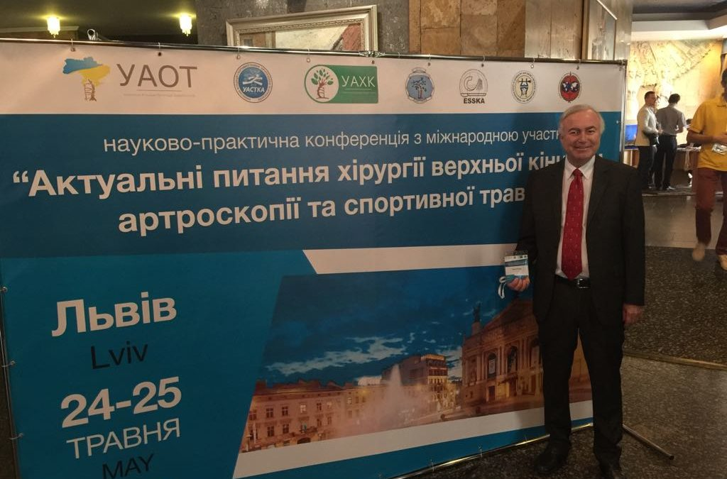 Philippe Neyret in Ukraine for an ISAKOS members congress on May