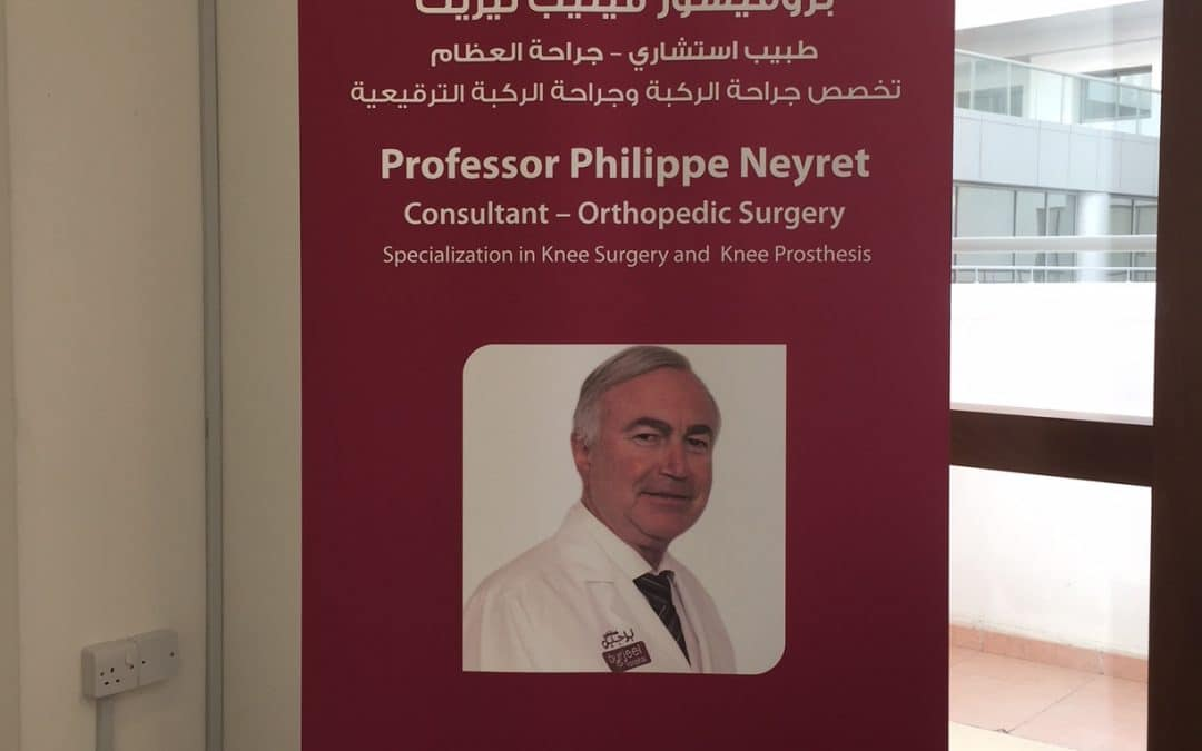 Professor Philippe Neyret now consultant in clinical research and education activities at the Burjeel Center for Orthopedic and Sports Medicine
