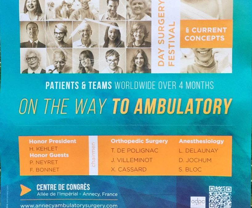 Orthopedic Ambulatory Surgery Anesthesia congress in Annecy