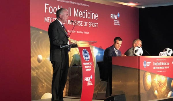 Prof Philippe in Wembley stadium during the Isokinetic Medical Group Conference on April 28th 2019