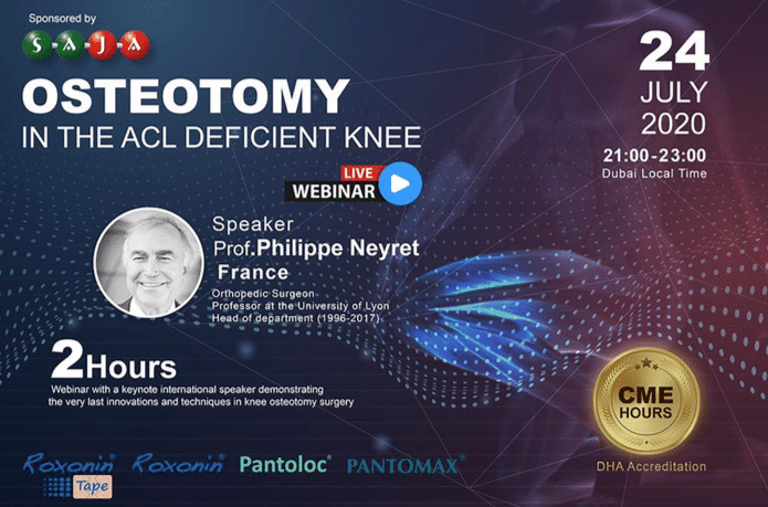 24/07 : Pr. Neyret in live Webinar for SAJA