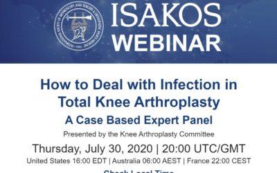 (Webinar) ISAKOS : infection after TKA